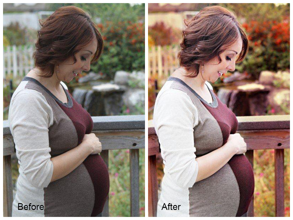ST2 Make Your Outdoor Maternity Sessions Pop with Color Blueprints Photoshop Actions Photoshop Tips & Tutorials