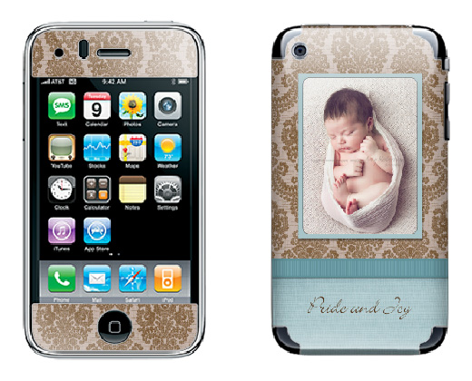 Sample_Blue Free iPhone Skin Photoshop Template: Make a Custom Case Discounts, Deals & Coupons Free Editing Tools