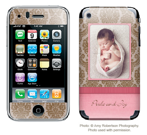 Sample_Pink1 Free iPhone Skin Photoshop Template: Make a Custom Case Discounts, Deals & Coupons Free Editing Tools