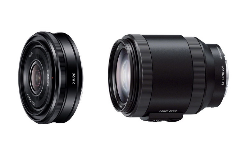 Sony-20mm-pancake-18-200mm-zoom-lenses
