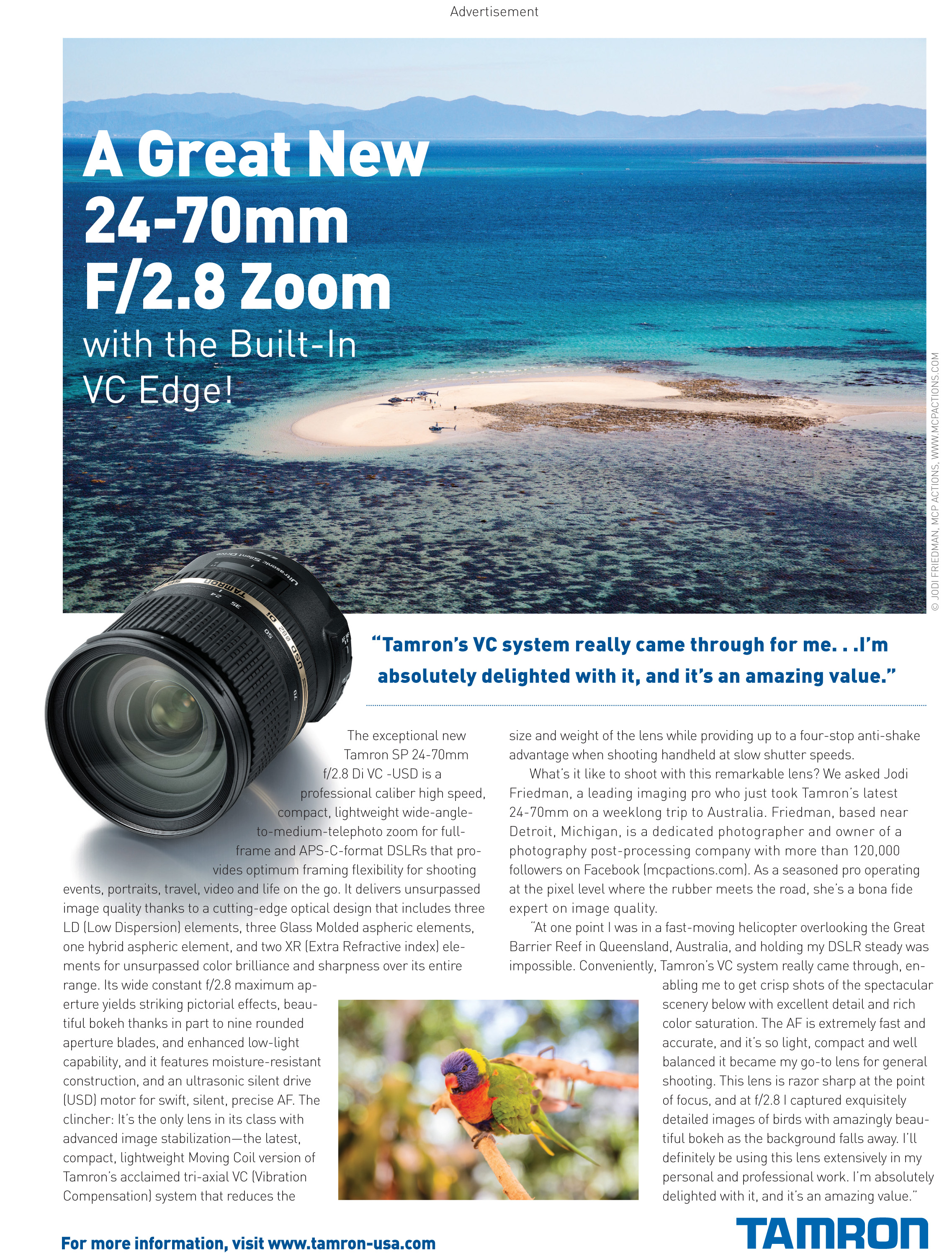 Tamron_Ad-Sept121 Contest: Win a Tamron 24-70 2.8 VC Lens for Canon, Nikon, or Sony SLR Cameras Announcements Contests