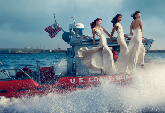 Three-If-By-Sea Vogue controversial photo shoot celebrates Hurricane Sandy storm troupers News and Reviews