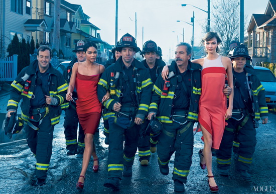 Walking-the-Walk Vogue controversial photo shoot celebrates Hurricane Sandy storm troupers News and Reviews
