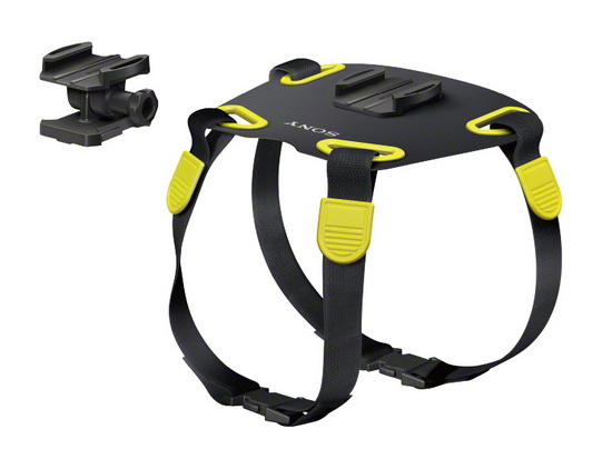 action-camera-mount-dogs Sony AKA-DM1 is an action camera mount for dogs Fun
