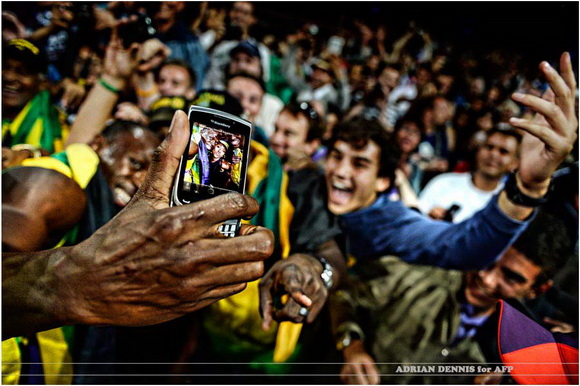 Adrian Dennis took a photo of Usain Bolt capturing an image
