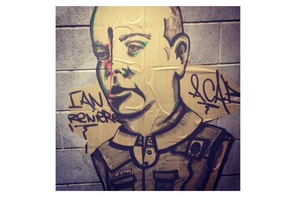 Anti-police graffiti photo on Instagram