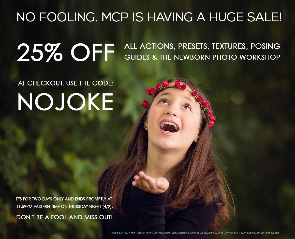 april-fools-sale-web NO FOOLING -- MCP IS HAVING A 2 DAY SALE Announcements Discounts, Deals & Coupons
