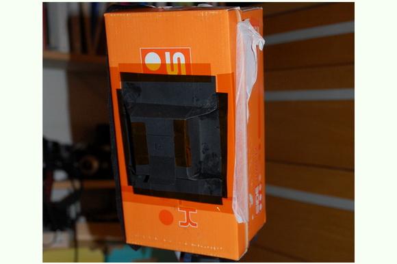 Pinhole camera out of a shoe box designed by Benoit Charlot