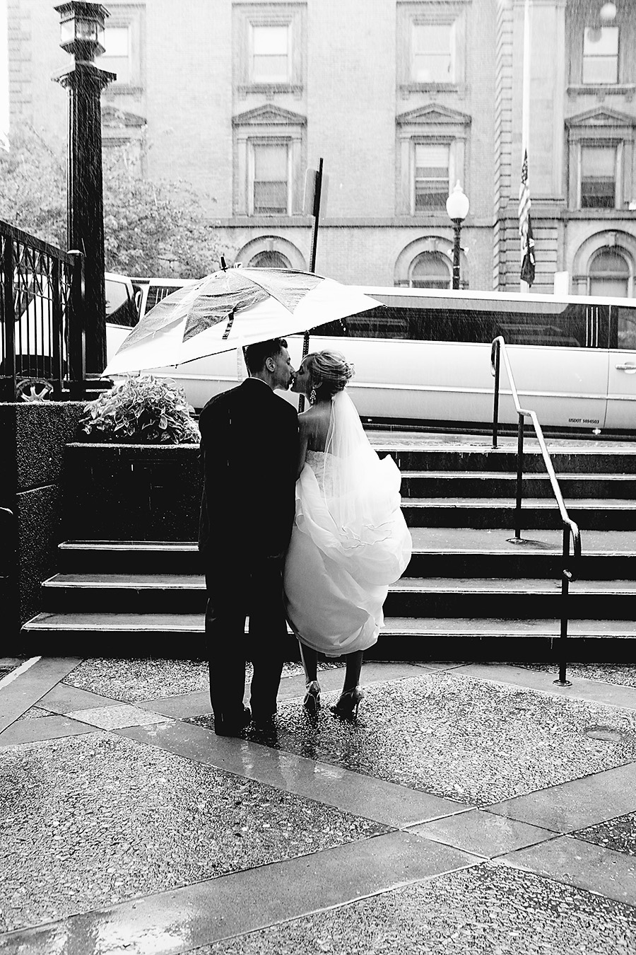 bride-and-groom-in-the-rain April Showers - Photos of Rain, Umbrellas, Boots, and More... Activities Photo Sharing & Inspiration
