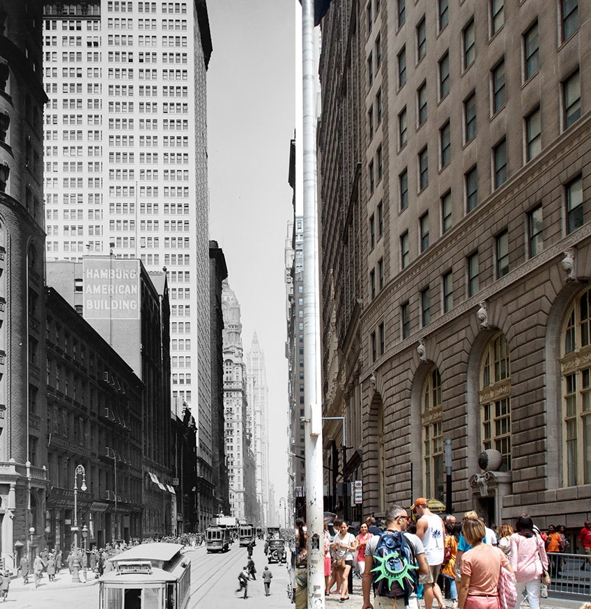 broadway NYC Grid project consists of then-and-now New York City photos Exposure