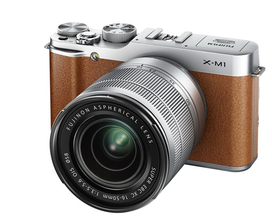 brown-fujifilm-x-m1 Fujifilm X-M1 entry-level X-Trans camera officially announced News and Reviews
