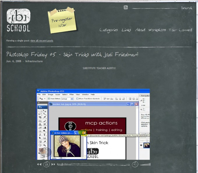 bschool A video tutorial on a very special skin trick in photoshop - MCP on the [b] school Photoshop Tips & Tutorials