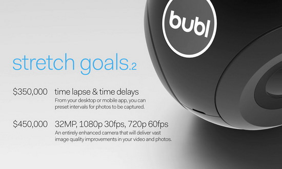 bublcam-stretch-goals Bublcam is an innovative 360-degree camera with a cute design News and Reviews