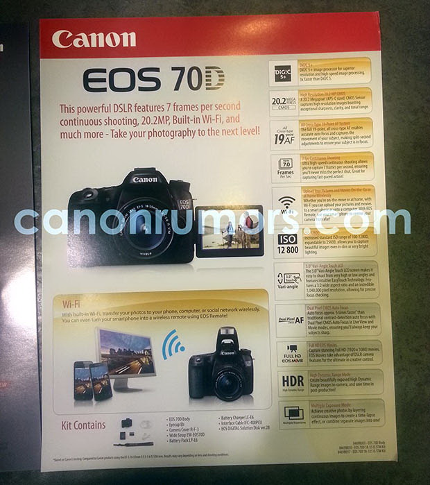 canon-70d-specs-leaked Canon 70D specs leaked with 20.2-megapixel sensor and WiFi Rumors