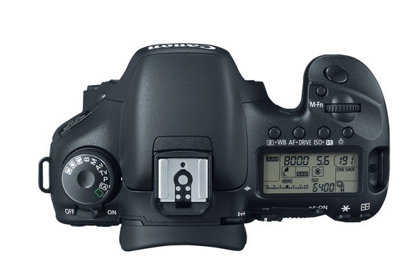 Canon 7D top view