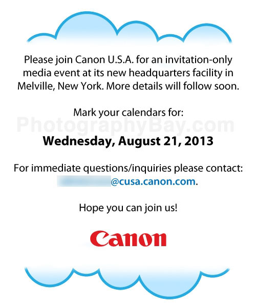 canon-august-21-event Canon cloud-based image sharing service to be announced on August 21 Rumors