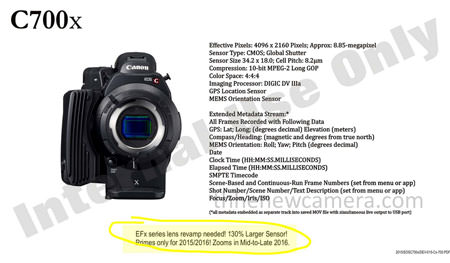 canon-c700x-leaked Canon C700x leaked as a 4K camera with a global shutter Rumors