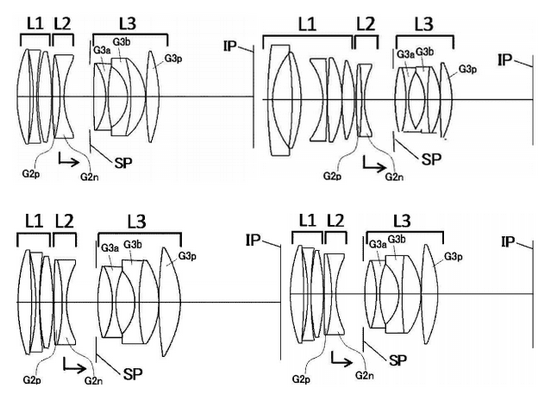 canon-prime-lens-patents Canon 55mm f/1.4 lens and three other primes patented Rumors