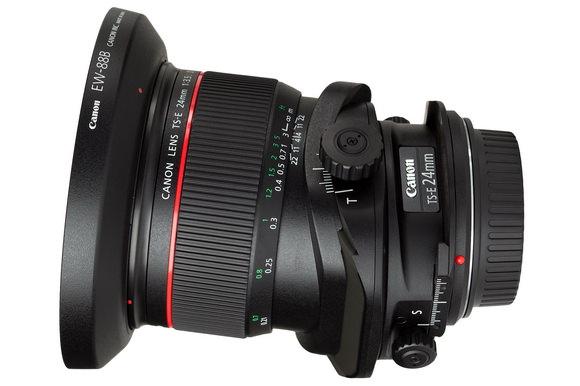 Canon tilt-shift 24mm lens