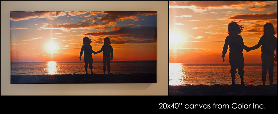 canvas-sunset Ordered a BIG Gallery Wrapped Canvas {Check out these Pictures} Photo Sharing & Inspiration