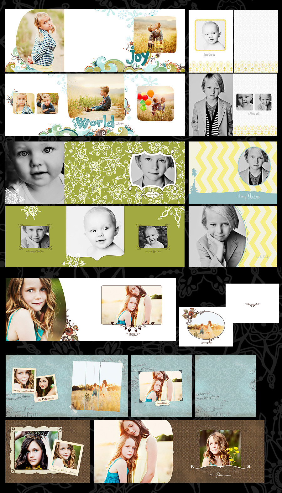 card-display-angie How to Use Cards & Templates: Online Photoshop Class (+ Free Cards/Digital Papers) Announcements Workshops
