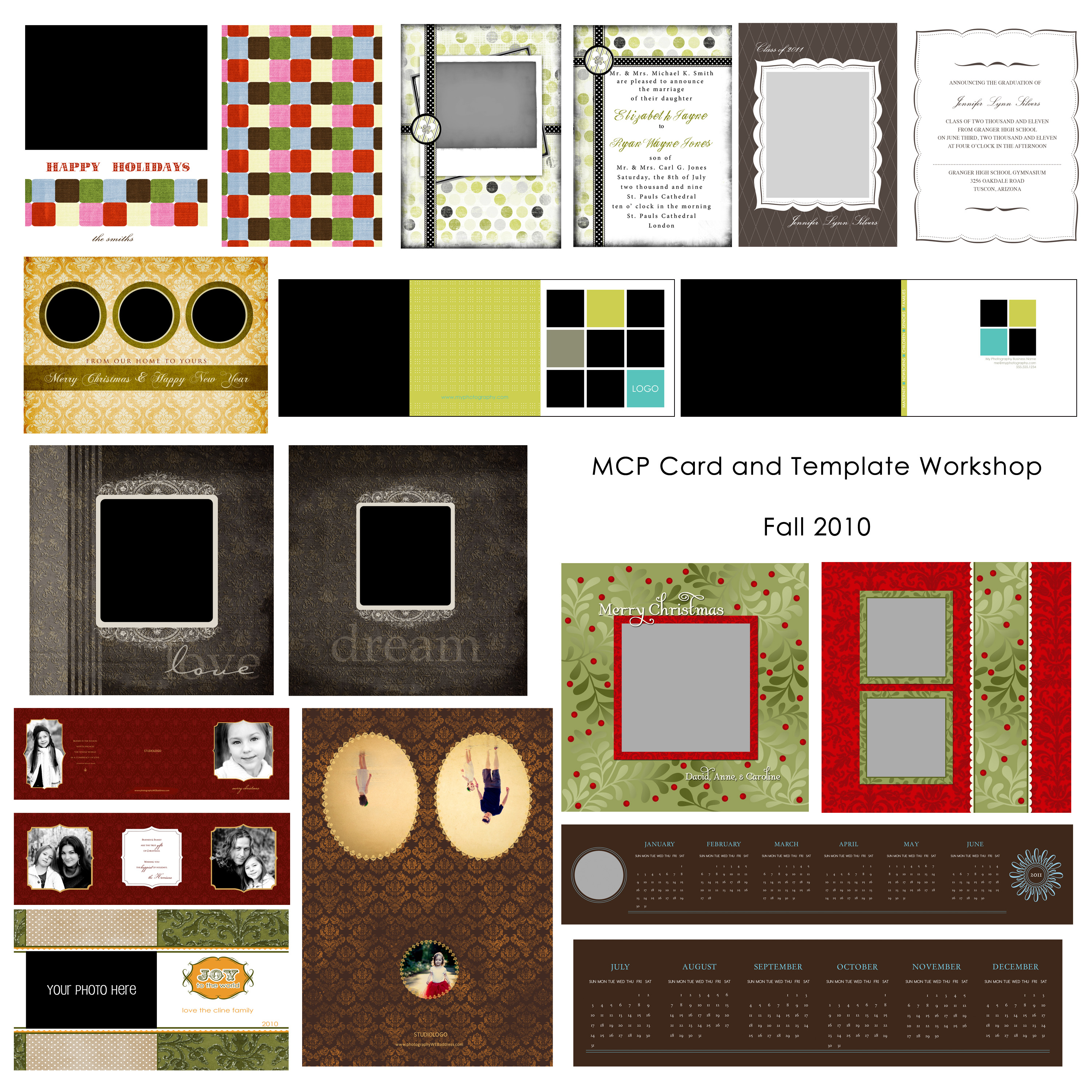 card-display How to Use Cards & Templates: Online Photoshop Class (+ Free Cards/Digital Papers) Announcements Workshops