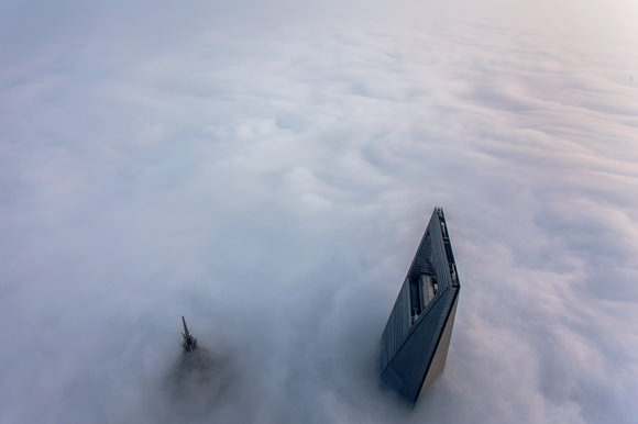 Clouds blocking Shanghai view