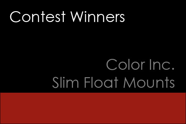 color-inc-winner Winners of the Color Inc Slim Mount Contest Announcements Contests