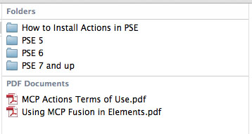 contents-of-action-folder The BEST Way to Install Actions into Photoshop Elements Photoshop Actions