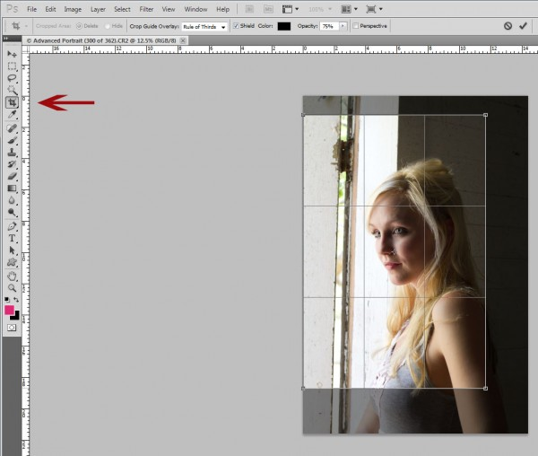 crop-tool-600x508 Understanding Cropping vs Resizing in Photography Photography Tips Photoshop Tips & Tutorials