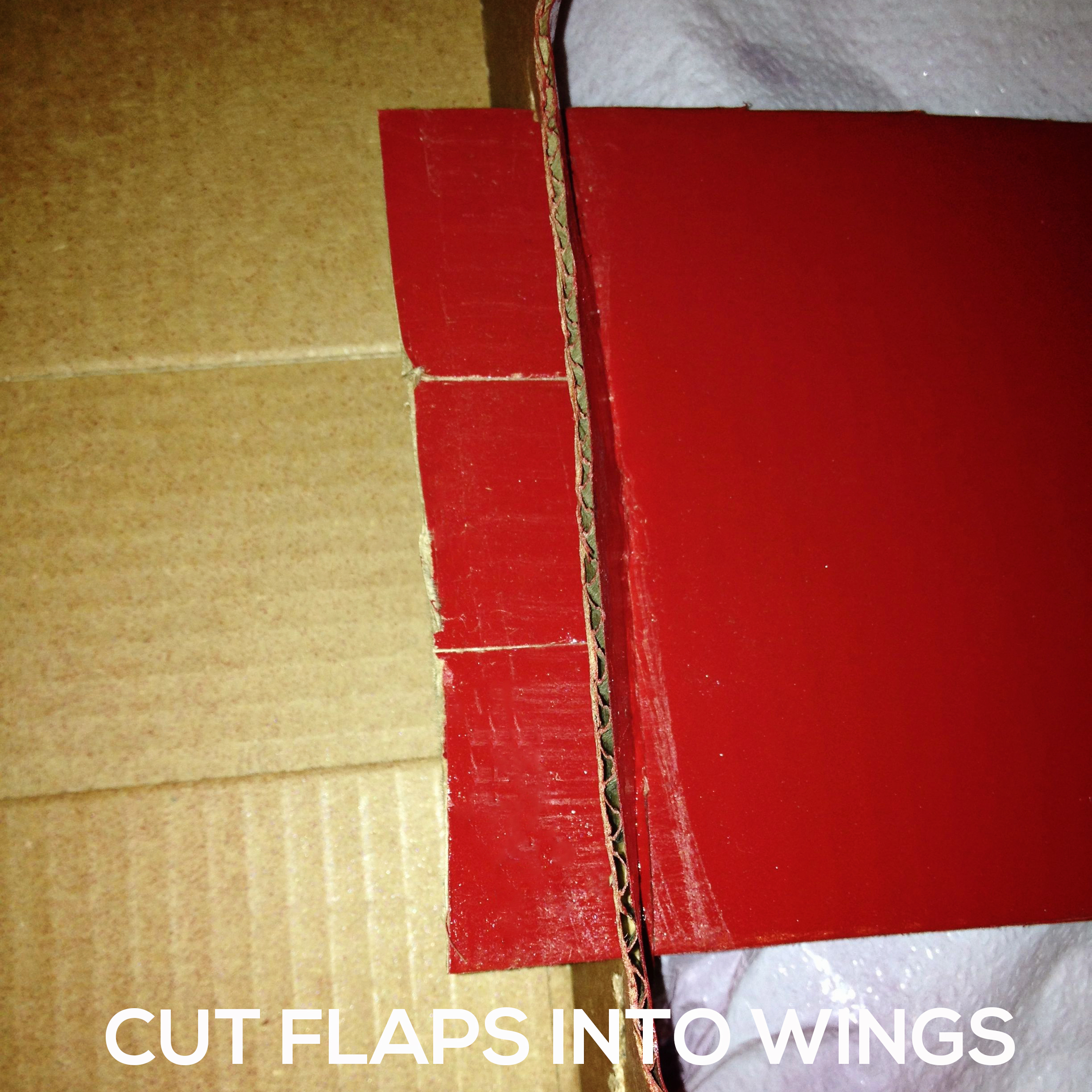 cut-flaps Make a DIY Box Airplane Prop for Newborn Photography Guest Bloggers Photography Tips Uncategorized