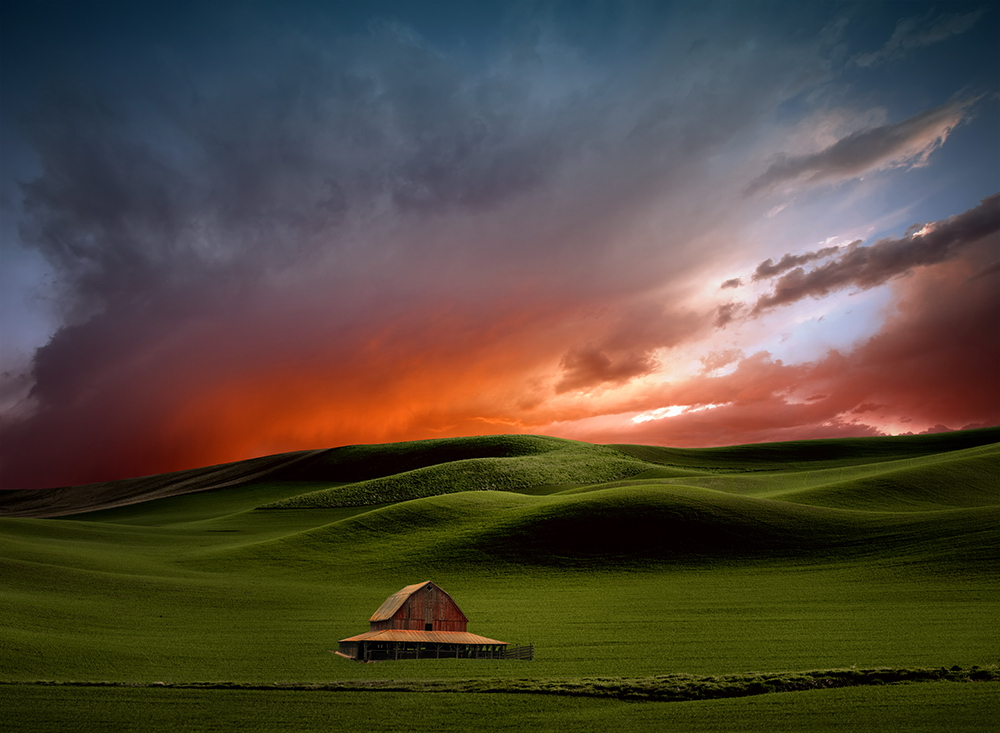 "dramatic-sky Breathtaking ""Abstract Landscapes"" depict rural surrealism Exposure"