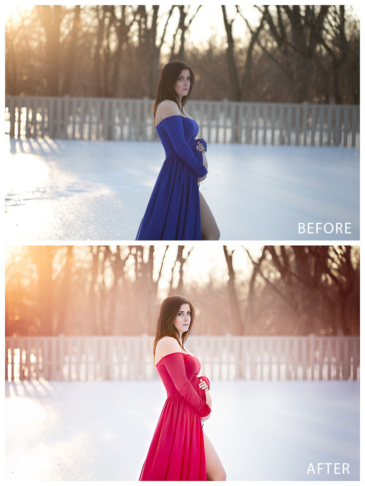 dress-color-switch-before-and-after1 How to Change the Colors of Objects in Your Photos Blueprints Photoshop Actions