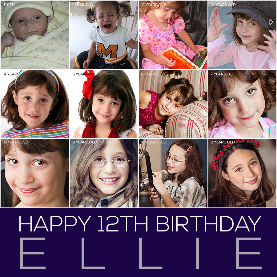ellie-12th-birthday-collage A Lot Has Changed In The Past 12 Years: Happy Birthday Ellie and Jenna MCP Thoughts