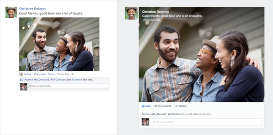 facebook-news-feed-redesign-comparison Facebook unveils less cluttered News Feed design News and Reviews