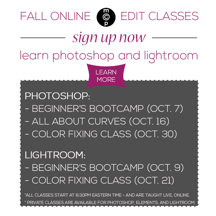 fall classes for erin