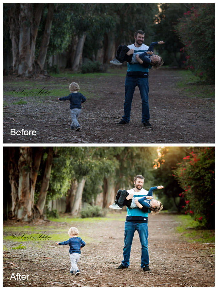 family-before-and-after-edit Make Family Portraits Come Alive in Photoshop Blueprints Photoshop Actions