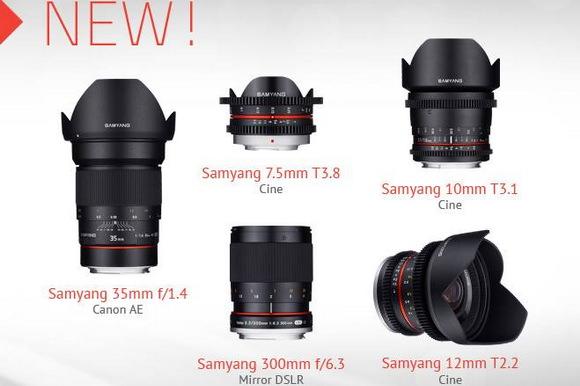 Five new Samyang lenses