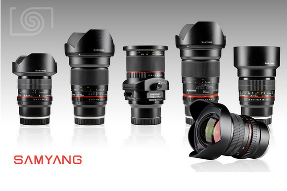 Five Samyang lenses