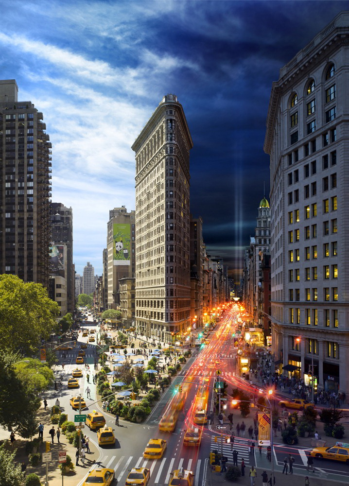 "flatiron-building ""Day To Night"" shows what happens in New York City in a day Exposure"