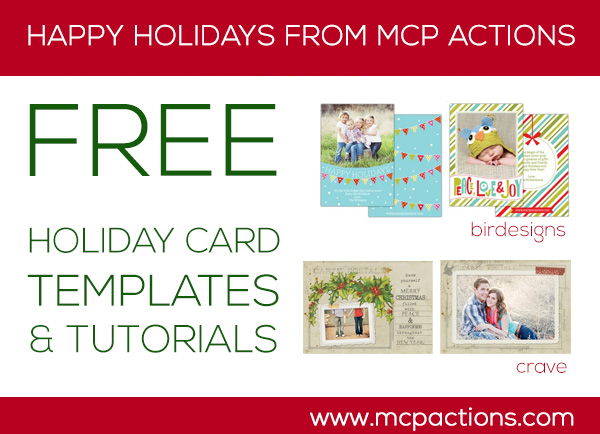 free-holiday-cards Holiday Gift Ideas for Photographers + A Few Free Goodies Announcements Free Editing Tools MCP Thoughts