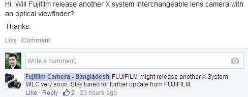 "fujifilm-bangladesh New Fujifilm X-series mirrorless camera coming ""very soon"" Rumors"