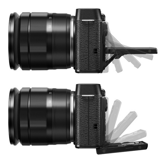 fujifilm-x-m1-tiltable-lcd-screen Fujifilm X-M1 entry-level X-Trans camera officially announced News and Reviews