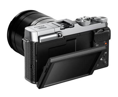 fujifilm-x-m1-tilting-lcd-screen Fujifilm X-M1 photos leaked alongside 16-50mm and 27mm lenses Rumors