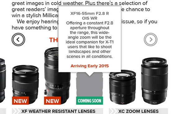 fujifilm-x-magazine-16-55mm-f2.8-lens Fujifilm XF 16-55mm f/2.8 R WR lens will have OIS after all Rumors