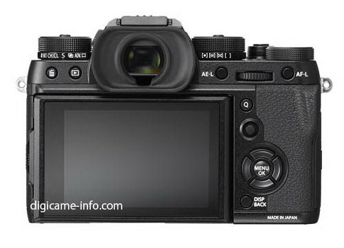 fujifilm-x-t2-back-leaked Fujifilm X-T2 photos and specs leaked before launch event Rumors