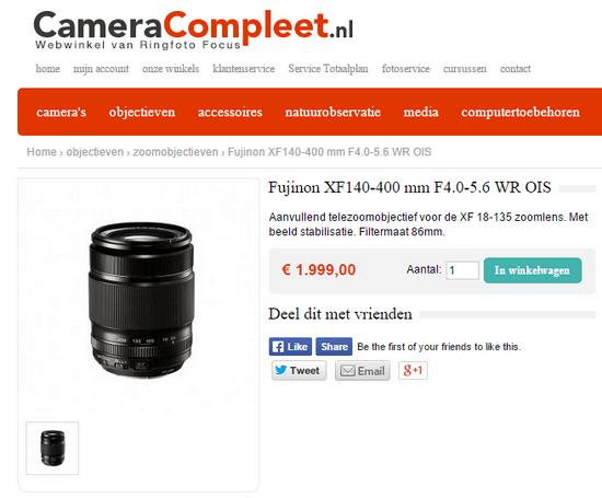 fujifilm-xf-140-400-price-leak Fujifilm XF 140-400mm f/4-5.6 R LM OIS lens price leaked Rumors