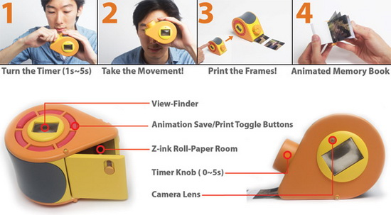 gif-ty-polaroid-camera-concept GIF-TY is a Polaroid camera which prints flipbook animations Fun