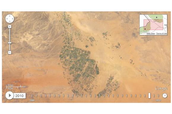 Google Timelapse Saudi Arabia