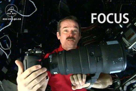 Chris Hadfield's Nikkon 400 mm lens